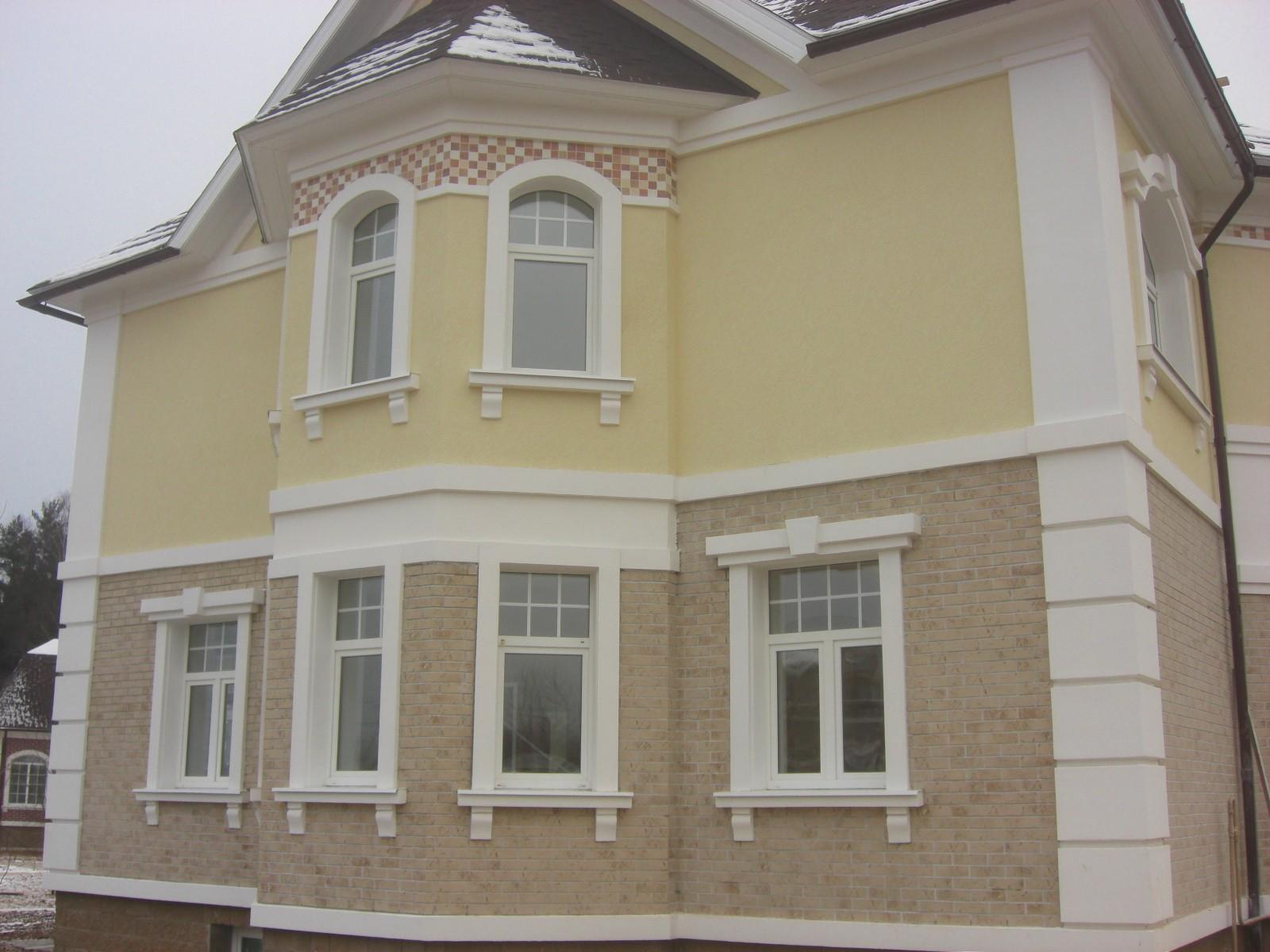 Отделка фасада дома плиткой фото